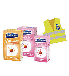 Davitamon Junior Framboise 60 ou 120 comp. et Multi-fruits 120 comp.