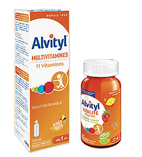 Alvityl solution multivitamines 150ml ou 60 gommes vitalité